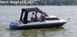 MOTOR BOATS: AQUALINE 520 BLACK/CHOCOLATE