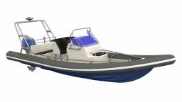 INFLATABLES: ARCTIC BLUE 23 OUTBOARD