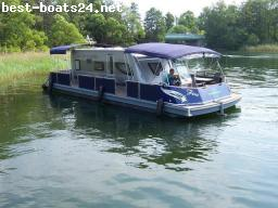 MULTIPLE HULL BOATS: HAUSBOOT BUNBO WOHNBOOT WATER CAMPER 1200