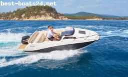 MOTOR BOATS: QUICKSILVER ACTIV 555 CABIN F100 CT MERCURY