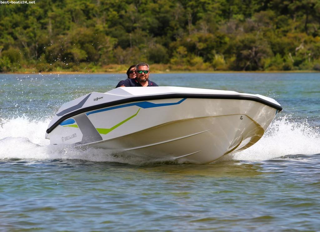 SEALVER WAVE BOAT 444 WHITE SHARP